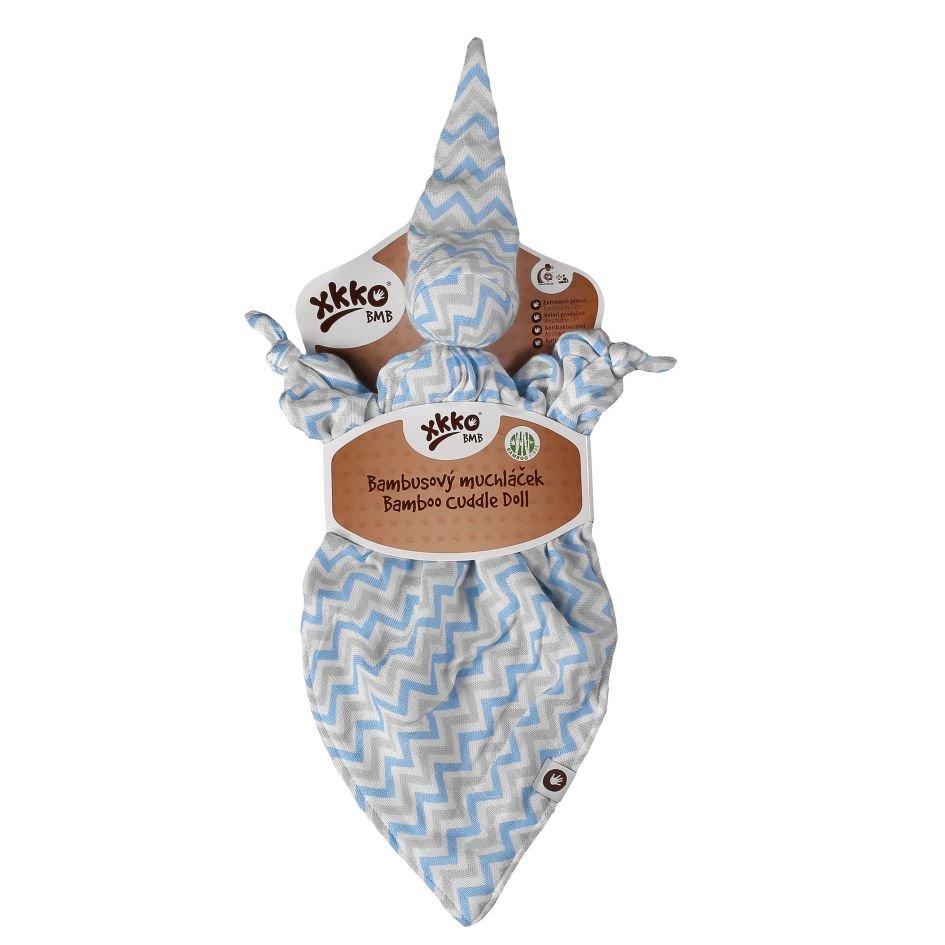 Bambusový muchláček XKKO BMB - Baby Blue Chevron