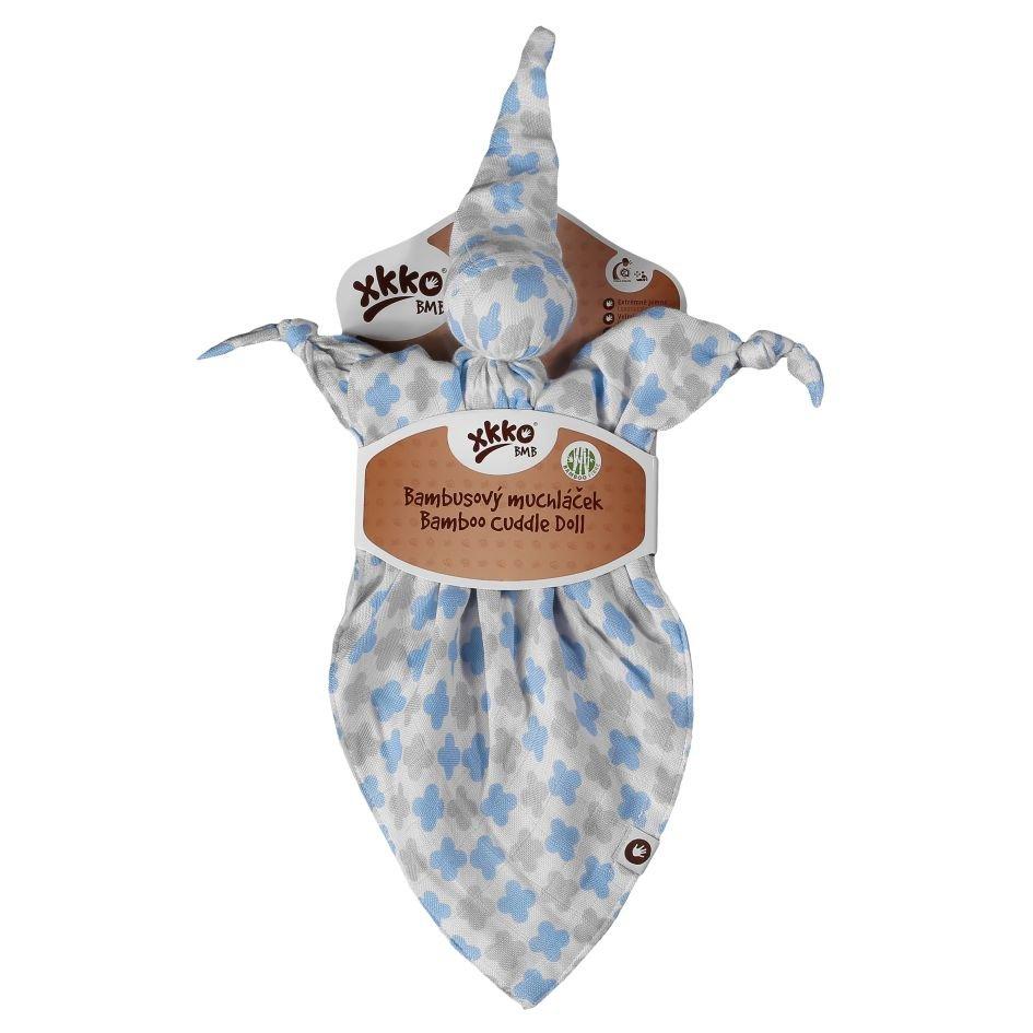 Bambusový muchláček XKKO BMB - Baby Blue Cross
