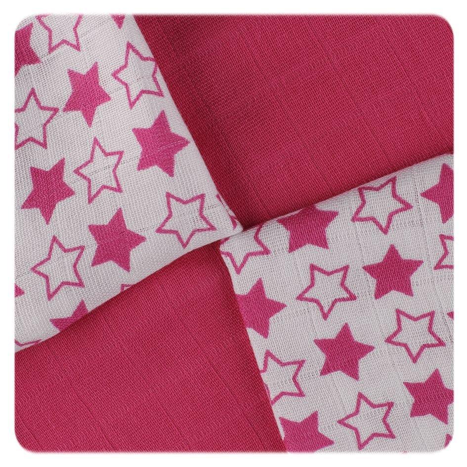 Bambusové ubrousky XKKO BMB 30x30 - Little Stars Magenta MIX
