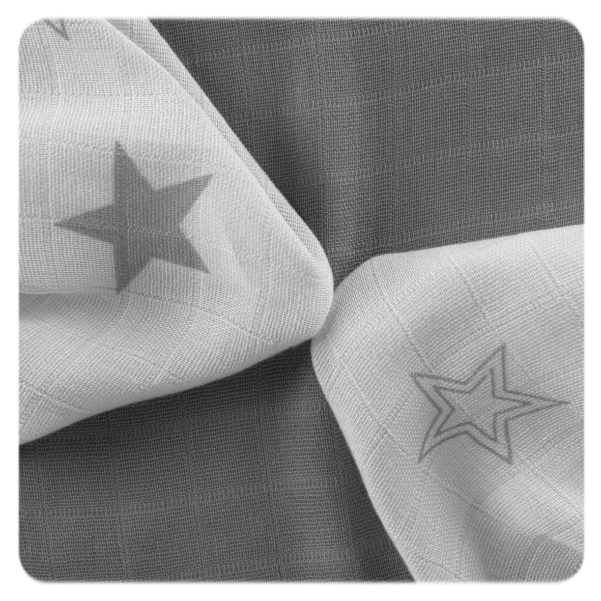 Bambusové ubrousky XKKO BMB 30x30 - Silver Stars MIX