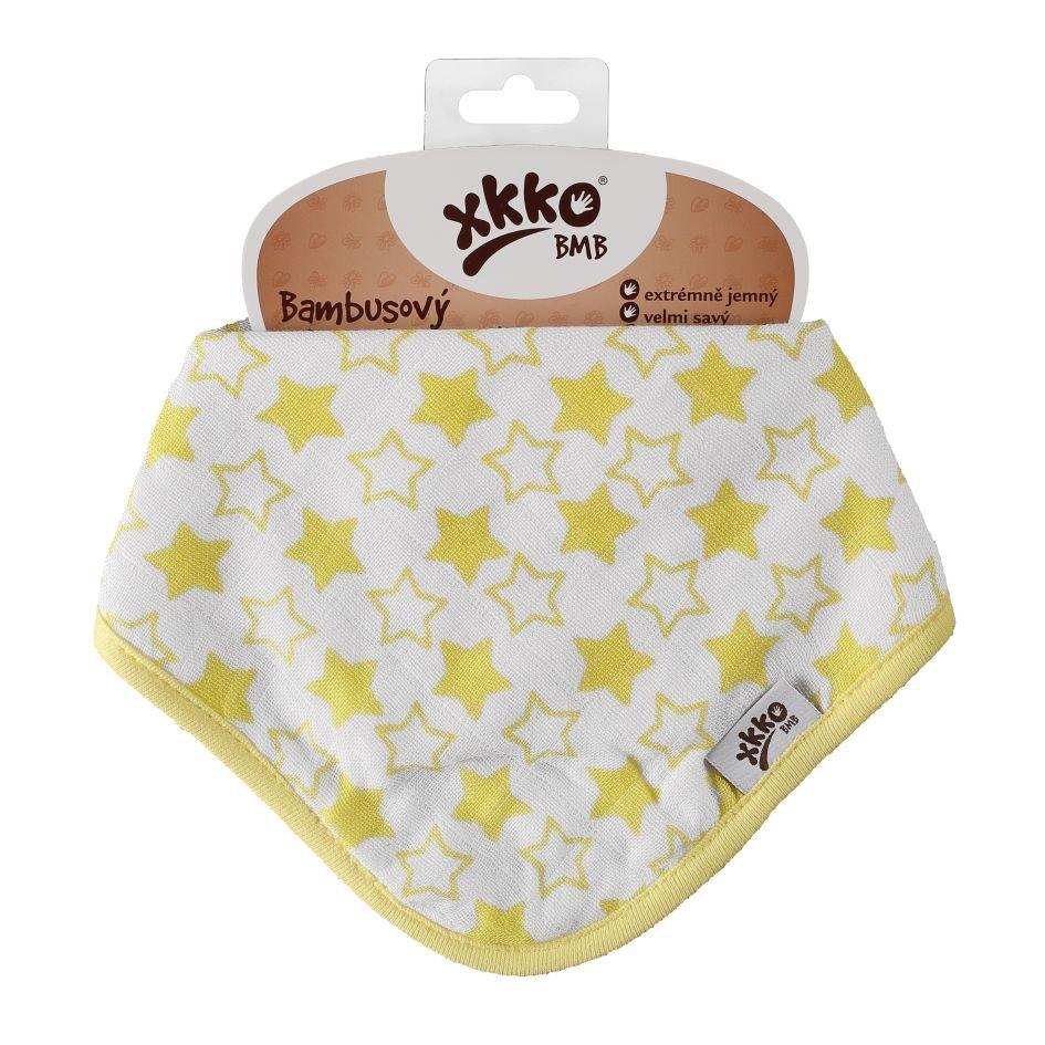 Bambusový slintáček XKKO BMB - Little Stars Lemon