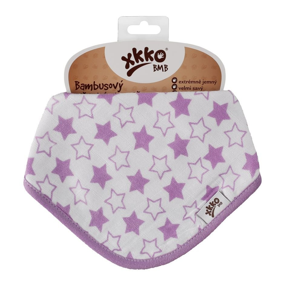 Bambusový slintáček XKKO BMB - Little Stars Lilac