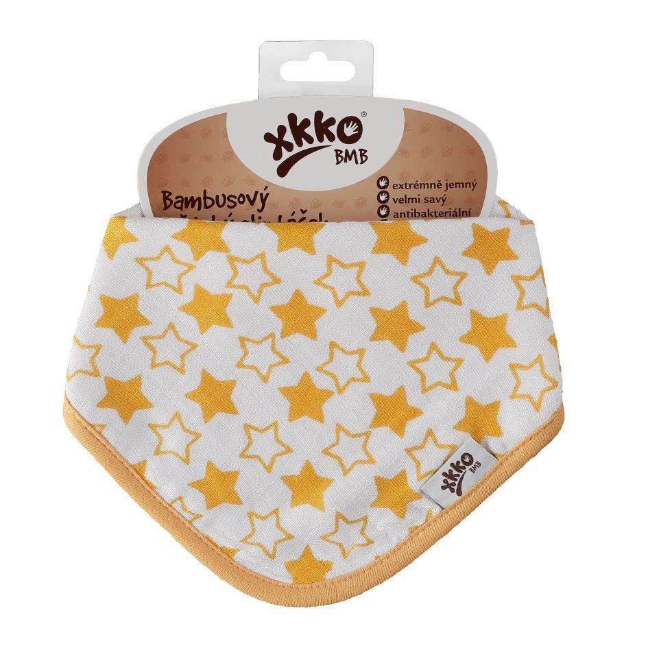 Bambusový slintáček XKKO BMB - Little Stars Orange