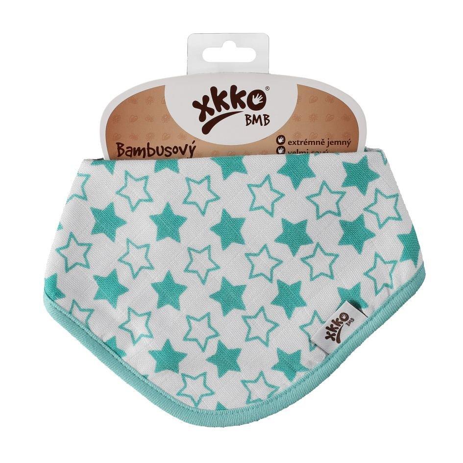 Bambusový slintáček XKKO BMB - Little Stars Turquoise