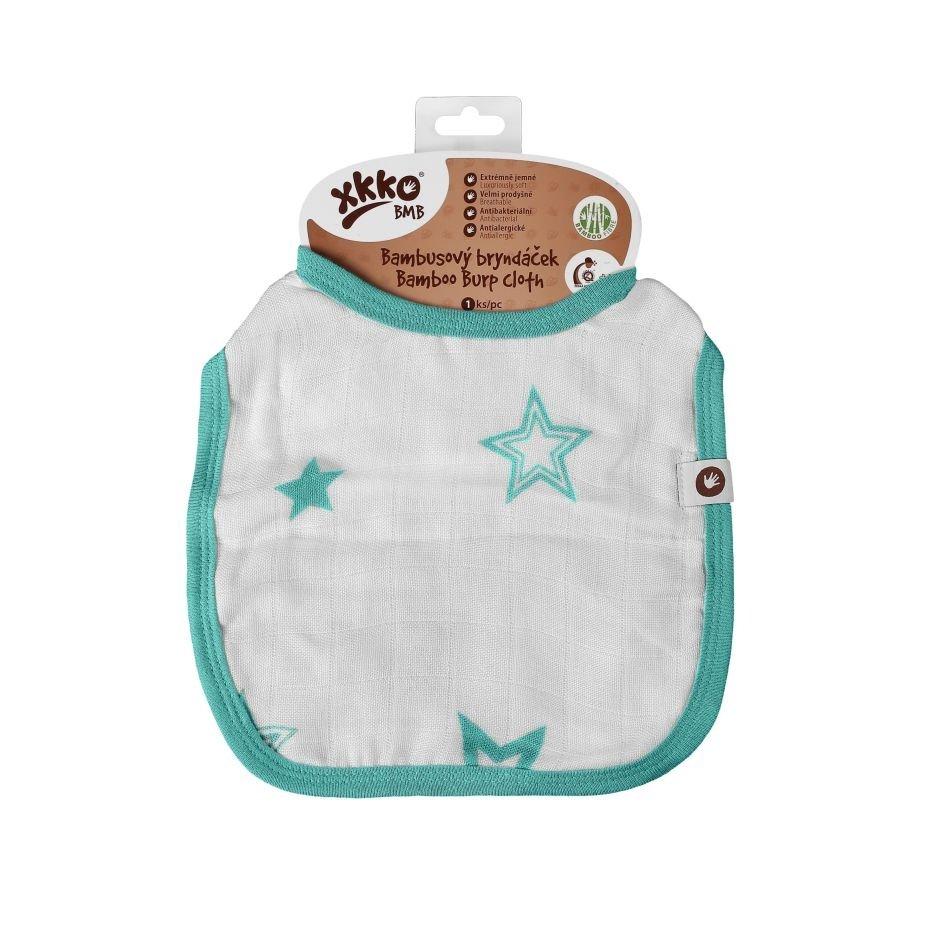 Bambusový bryndáček XKKO BMB - Turquoise Stars