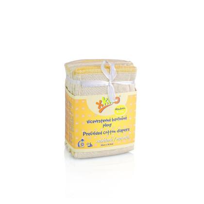 Vícevrstvé plenky XKKO (4/8/4) - Newborn Natural