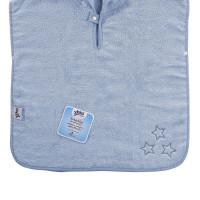 BIO bavlněné froté pončo XKKO Organic - Baby Blue Stars