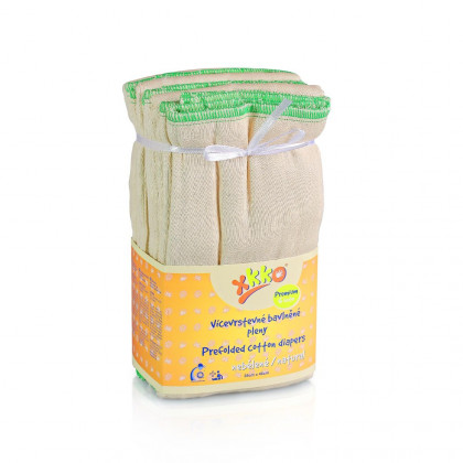 Vícevrstvé plenky XKKO (4/8/4) - Premium Natural