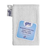 BIO bavlněná froté žínka XKKO Organic - Bílá