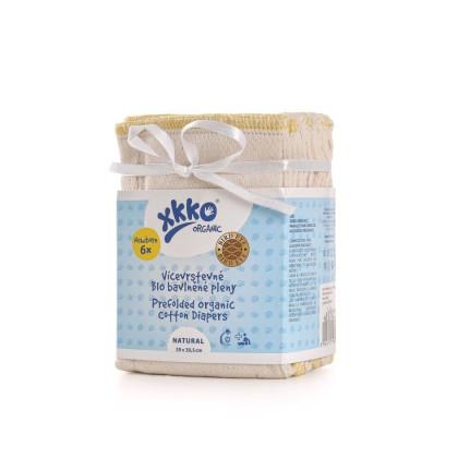 Vícevrstvé plenky XKKO Organic (4/6/4) - Bird Eye Newborn Natural