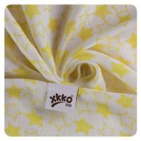 Bambusové pleny XKKO BMB 70x70 - Little Stars Lemon MIX 3ks