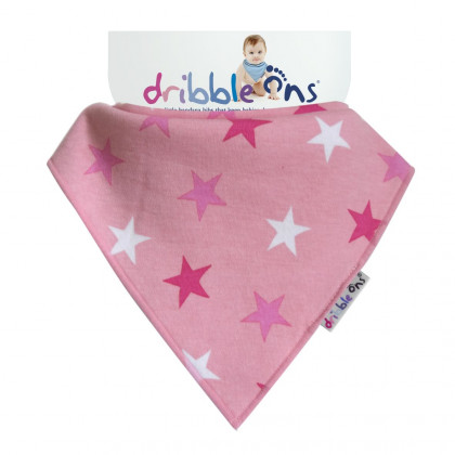 Dribble Ons Designer Pink Stars