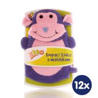 XKKO Žínka s maňáskem (PE) - Opička 12x1ks VO bal.