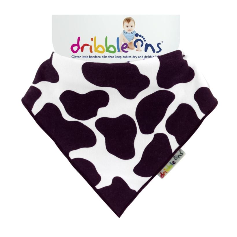 Dribble Ons Designer Funny Cow 3x1ks Velkoobchodní balení