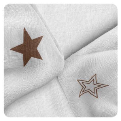 Bambusové ubrousky XKKO BMB 30x30 - Natural Brown Stars MIX