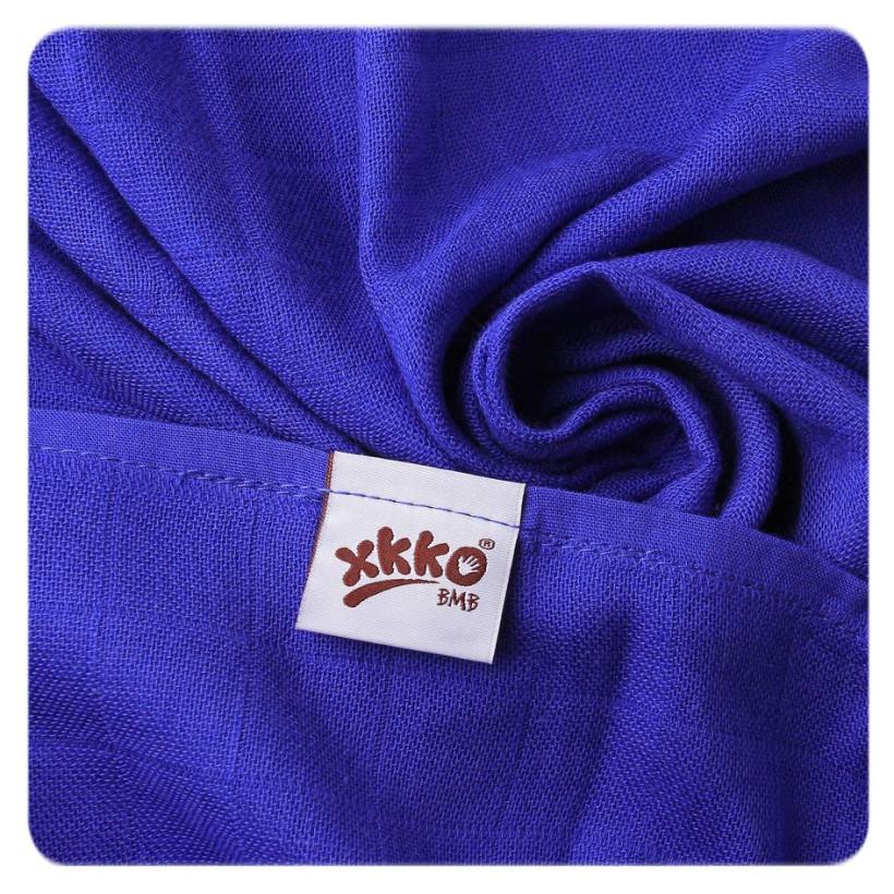 Bambusové pleny XKKO BMB Hearts&Waves Ocean Blue MIX 70x70cm - 3ks