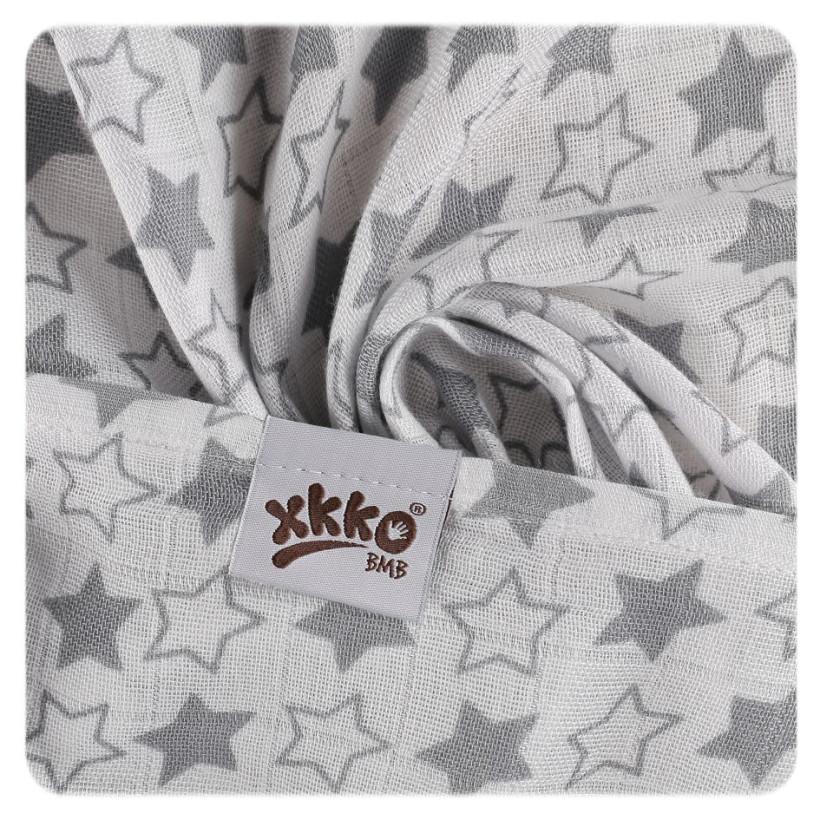 Bambusové pleny XKKO BMB 70x70 - Little Stars Silver MIX 3ks