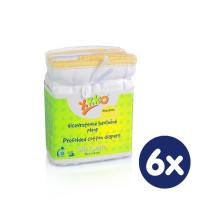 Vícevrstvé plenky XKKO (4/8/4) - Newborn Bílé 6x6ks VO bal.