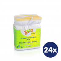 Vícevrstvé plenky XKKO (4/8/4) - Newborn Bílé- 24x6ks VO bal.