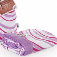Bambusová mušelínová deka XKKO BMB Lilac Waves 100x100cm