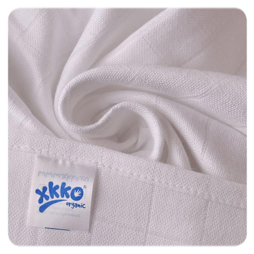 Dětské pleny z biobavlny XKKO Organic 70x70cm - Staré časy Bílé 5x5ks VO bal.