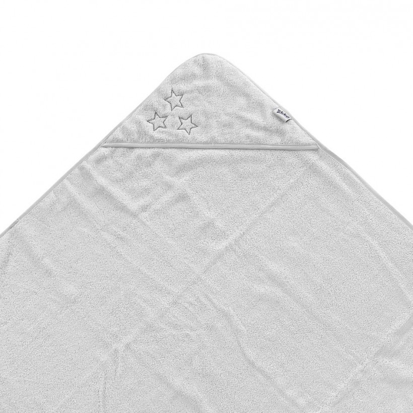 BIO bavlněná froté osuška s kapucí XKKO Organic 90x90 - White Stars