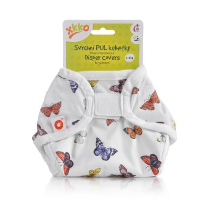 Svrchní PUL kalhotky XKKO Newborn - Butterflies