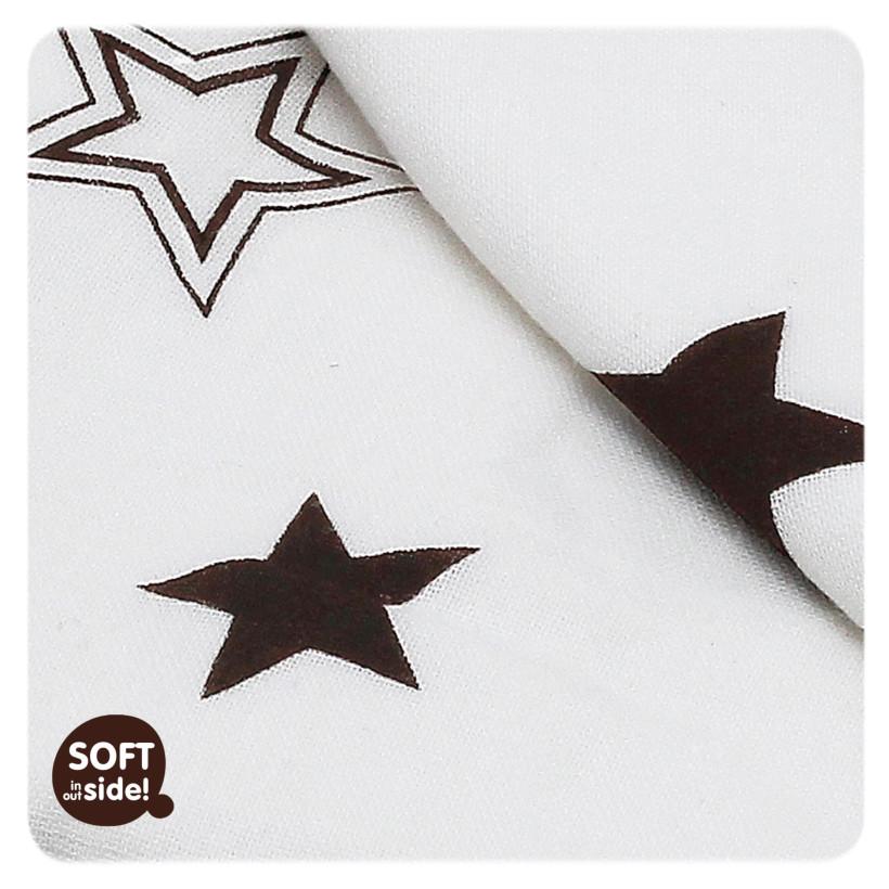 Bambusová deka XKKO BMB Natural Brown Stars 130x70cm