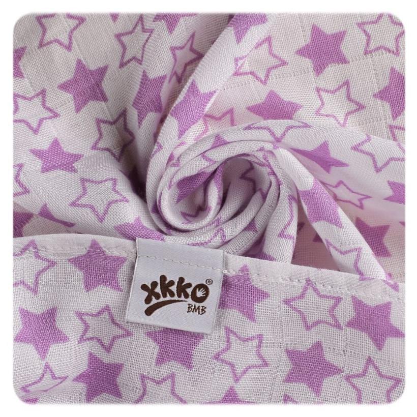 Bambusové pleny XKKO BMB 70x70 - Little Stars Lilac MIX 3ks