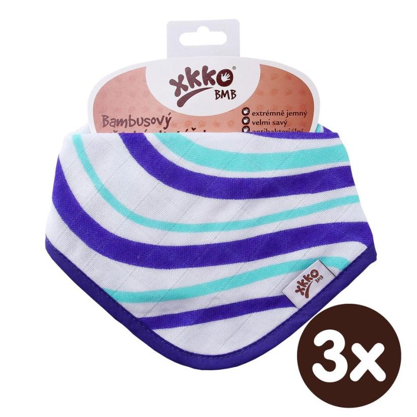 Bambusový slintáček XKKO BMB - Ocean Blue Waves 3x1ks VO bal.