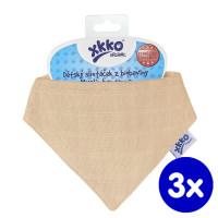 Dětský slintáček XKKO Organic Staré časy - Summer Peach 3x1ks VO bal.