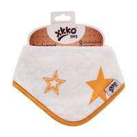 Bambusový slintáček XKKO BMB - Orange Stars 3x1ks VO bal.