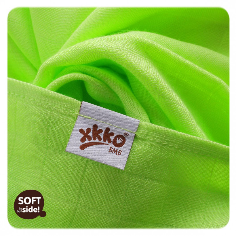 Bambusové pleny XKKO BMB Colours MIX 70x70cm - 3ks