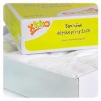 Vysokogramážní dětské pleny XKKO LUX 80x80cm Bílé