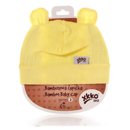 Bambusová čepička XKKO BMB - Lemon
