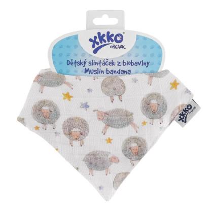 Dětský slintáček XKKO Organic - Dreamy Sheeps