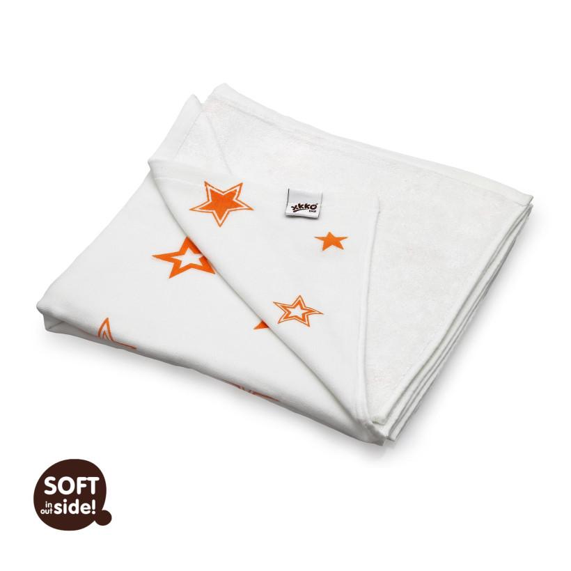 Bambusová deka XKKO BMB Orange Stars 130x70cm