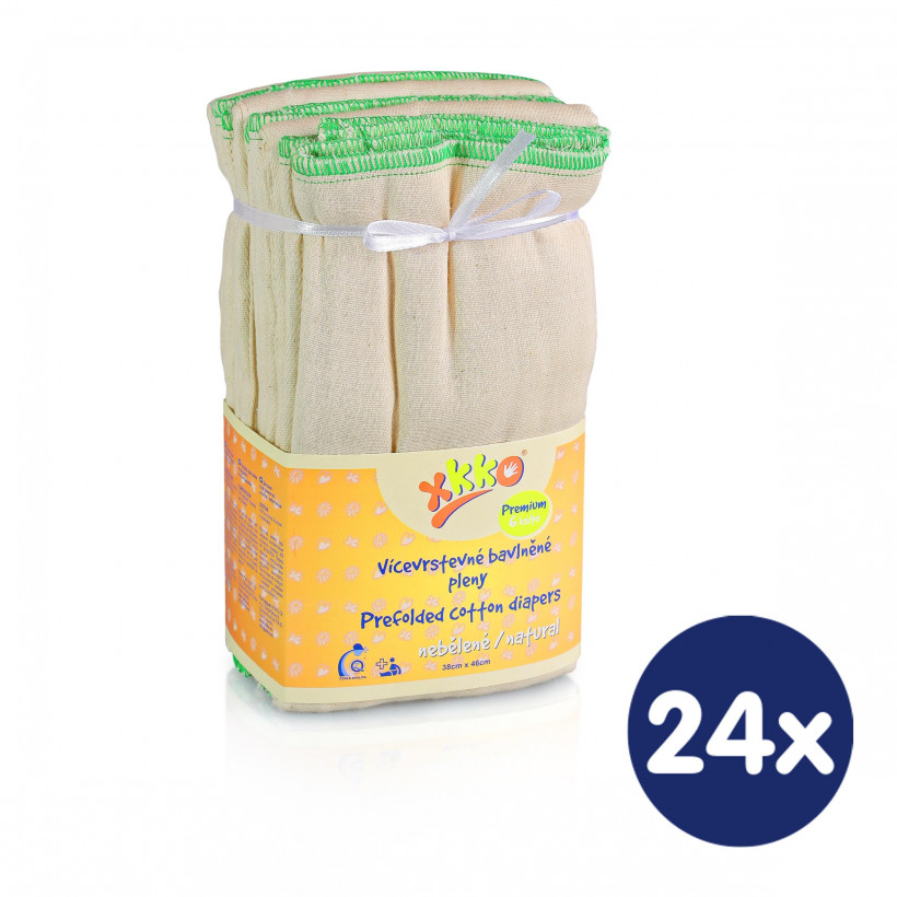Vícevrstvé plenky XKKO (4/8/4) - Premium Natural 24x6ks VO bal.