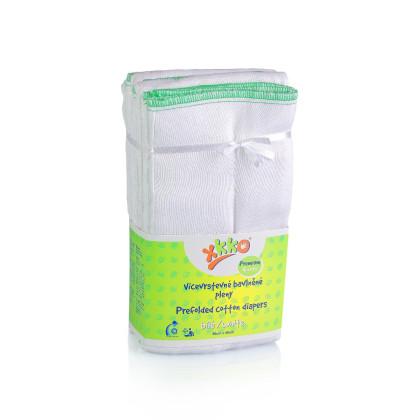 Vícevrstvé plenky XKKO Classic (4/8/4) - Premium Bílé