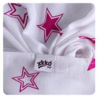 Bambusová osuška XKKO BMB Magenta Stars 90x100cm