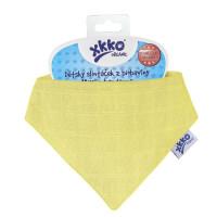 Dětský slintáček XKKO Organic Staré časy Wax Yellow