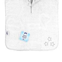 BIO bavlněné froté pončo XKKO Organic - White Stars