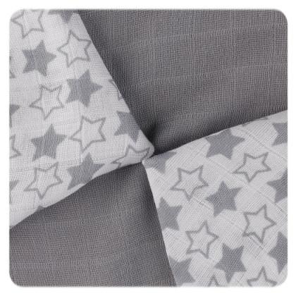 Bambusové ubrousky XKKO BMB 30x30 - Little Stars Silver MIX