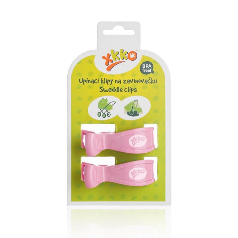 XKKO Klipy na kočárek 2ks - Baby Pink  5x1pár VO bal.