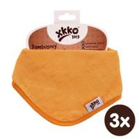 Bambusový slintáček XKKO BMB - Orange 3x1ks VO bal.