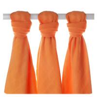 Bambusové pleny XKKO BMB Orange 70x70cm - 3ks