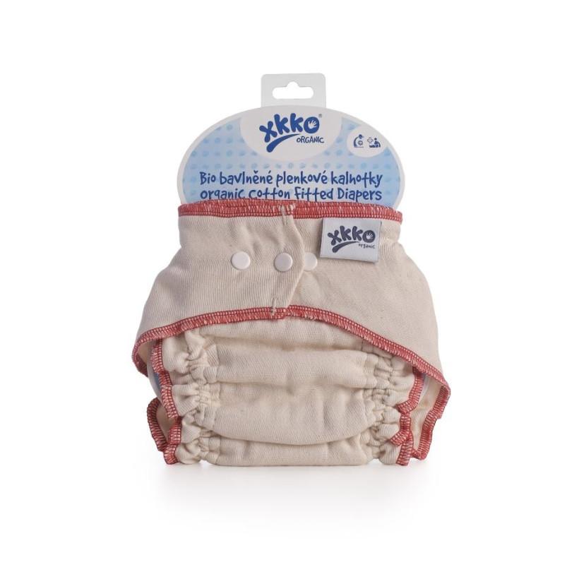 Plenkové kalhotky XKKO Organic - Natural Velikost M