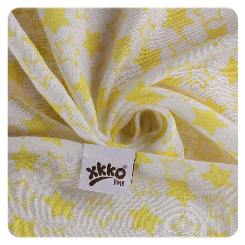 Bambusové pleny XKKO BMB 70x70 - Little Stars Lemon MIX 10x3ks VO bal.
