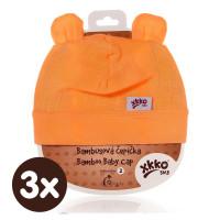 Bambusová čepička XKKO BMB - Orange 3x1ks VO bal.