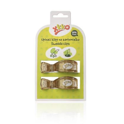 XKKO Klipy na kočárek 2ks - Metallic Gold